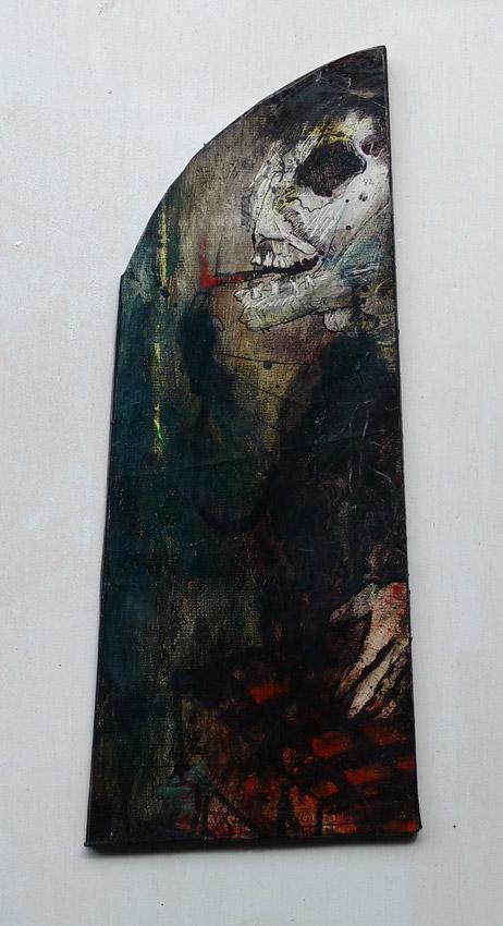 """""""s/título"""" Acrílica s/ papel - 1982 35X14 cm"""