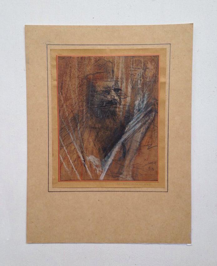 """s/título""  Mista s/ papel (grafite, terra e giz de cera) - 1978-2009 17X14 cm"