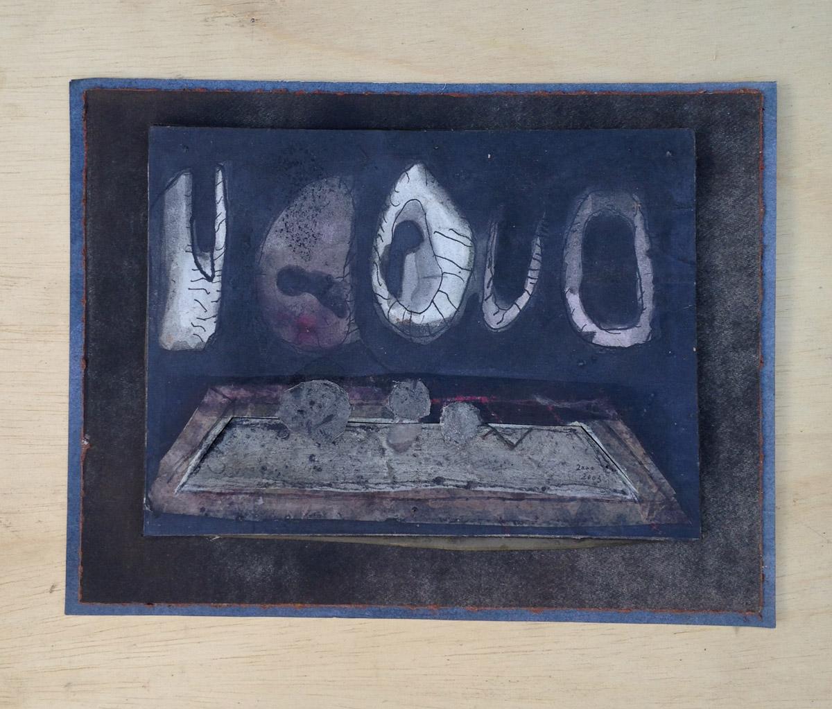 """""""s/ título"""" Acrílica s/ papel - 2000-2003 18X24 cm"""