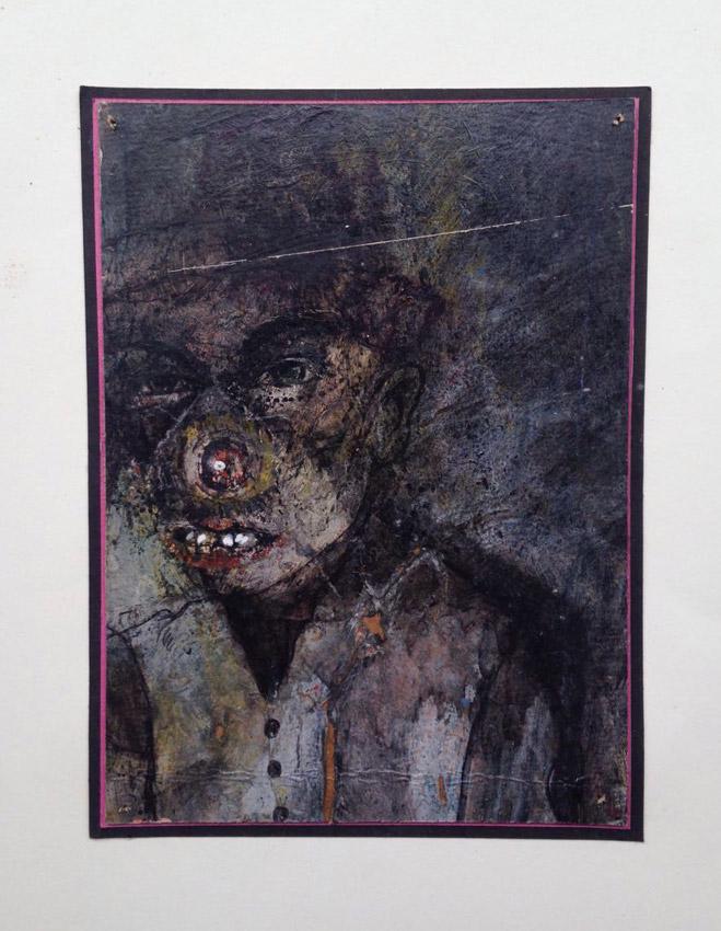 """""""s/ título""""  Acrílica s/ papel - 1980 18X13 cm"""
