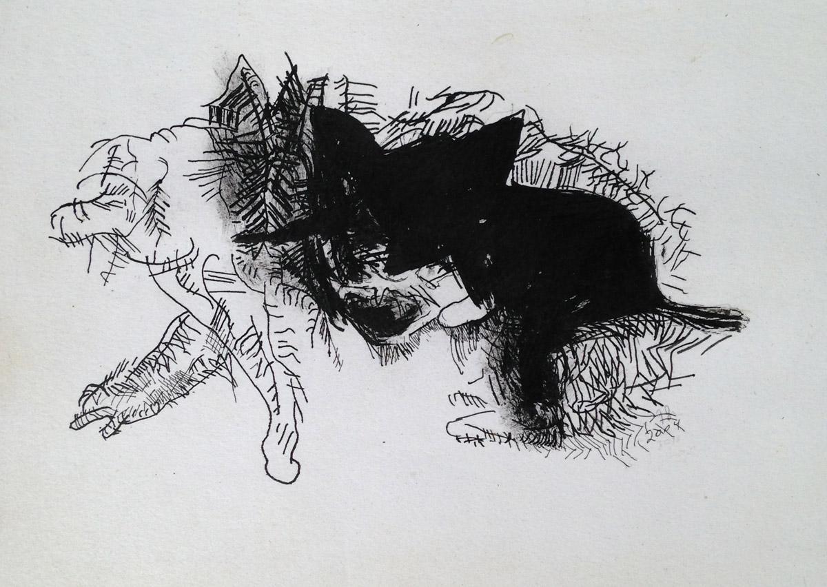 """""""s/ título"""" Acrílica s/ papel - 1998-2004-2010 18X25,5 cm"""