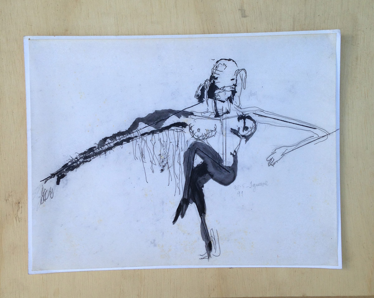 """""""s/ título"""" Acrílica s/ papel - 1998-1999 21X27,5 cm"""