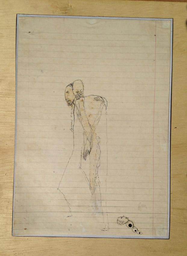 """""""s/ título"""" Mista s/ papel (acrílica e terra) - 1998 26,5X20 cm"""