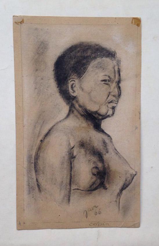 """""""A arte de desenhar a mulher- Ed. de ouro - Cópia Carvão s/ papel - 1966 23X20 cm"""
