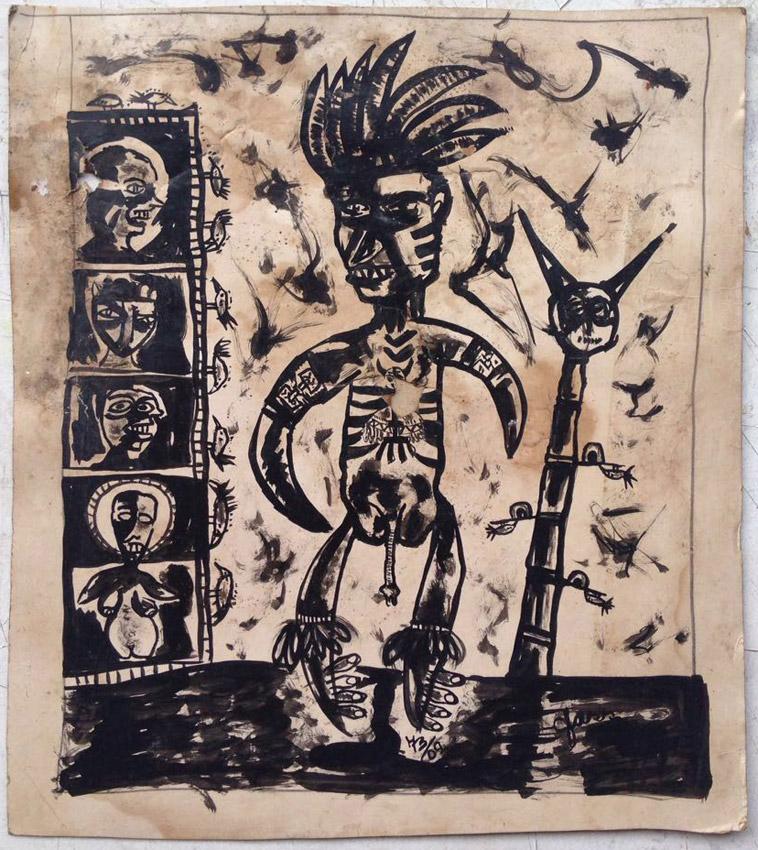 """""""s/ título""""  Nanquim s/ papel - 1973  33X27 cm"""