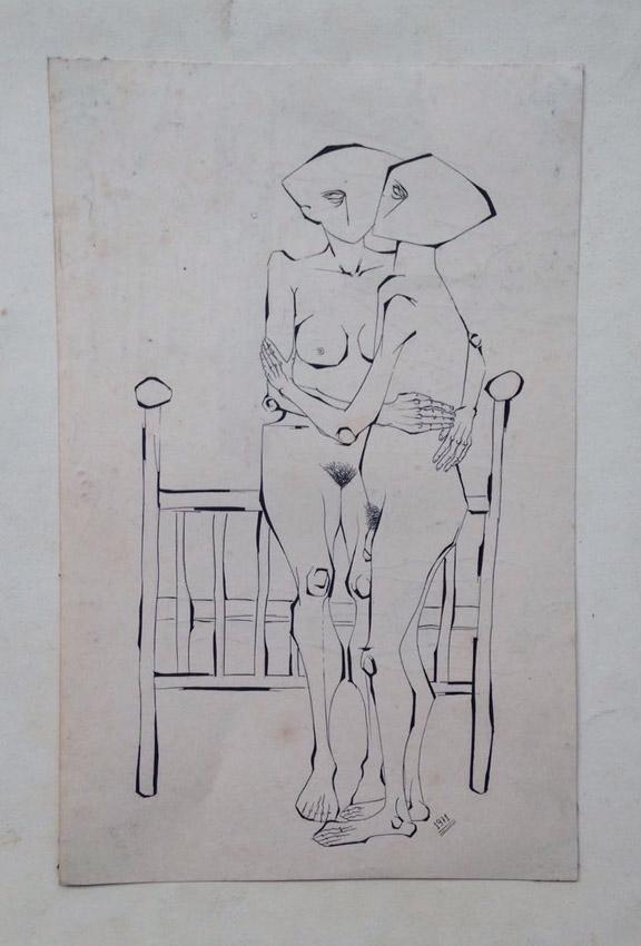 """""""s/ título"""" Nanquim s/ papel - 1971 28,5X18 cm"""