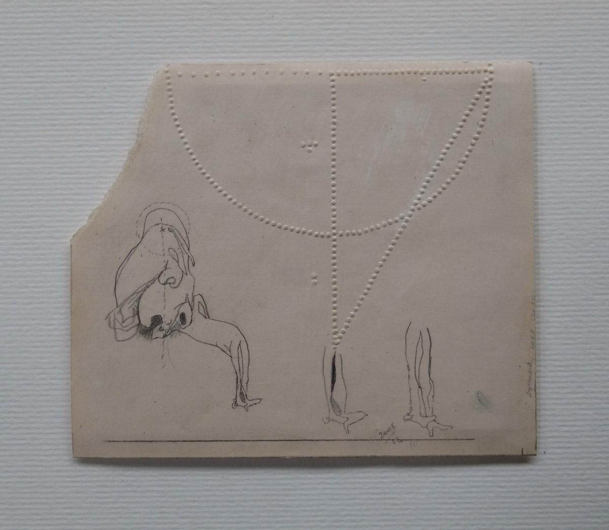 """""""s/ título""""  Grafite s/ papel - 2008-2010 17X20 cm"""