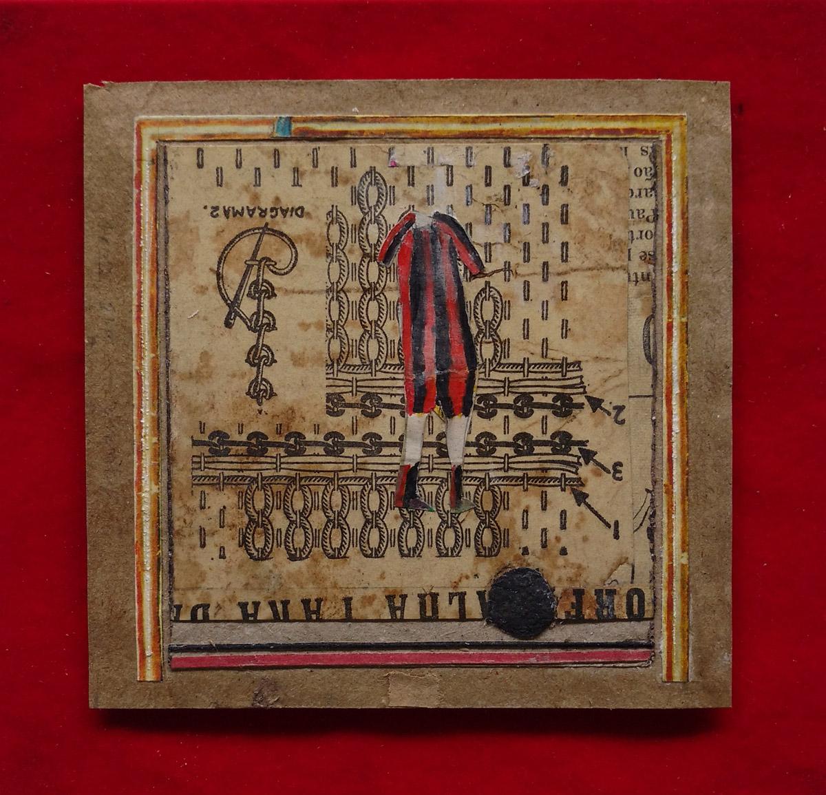 """""""s/ título"""" Mista s/ papel (colagem e guache) - 2010-2011 16X16,5 cm"""