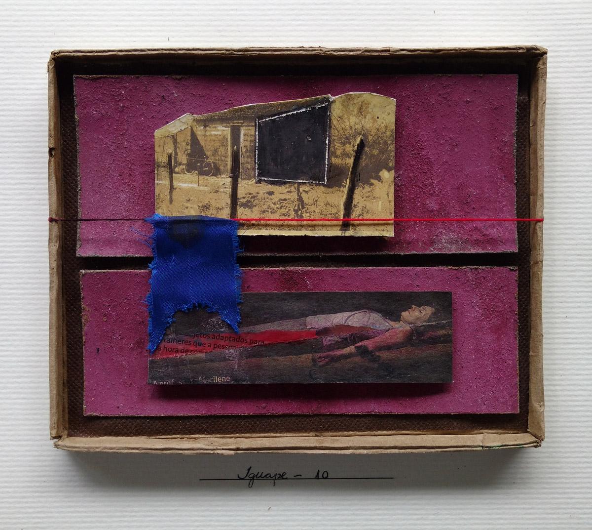 """s/ título""  Mista s/ papel (colagem, acrílica) - 2010 17X21,5 cm"
