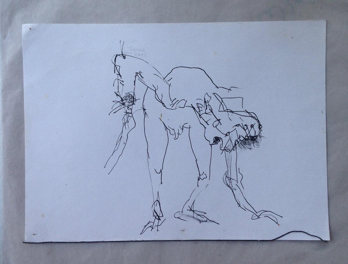 """""""s/ título"""" Nanquim s/ papel - 2004-2005 20X26,5 cm"""