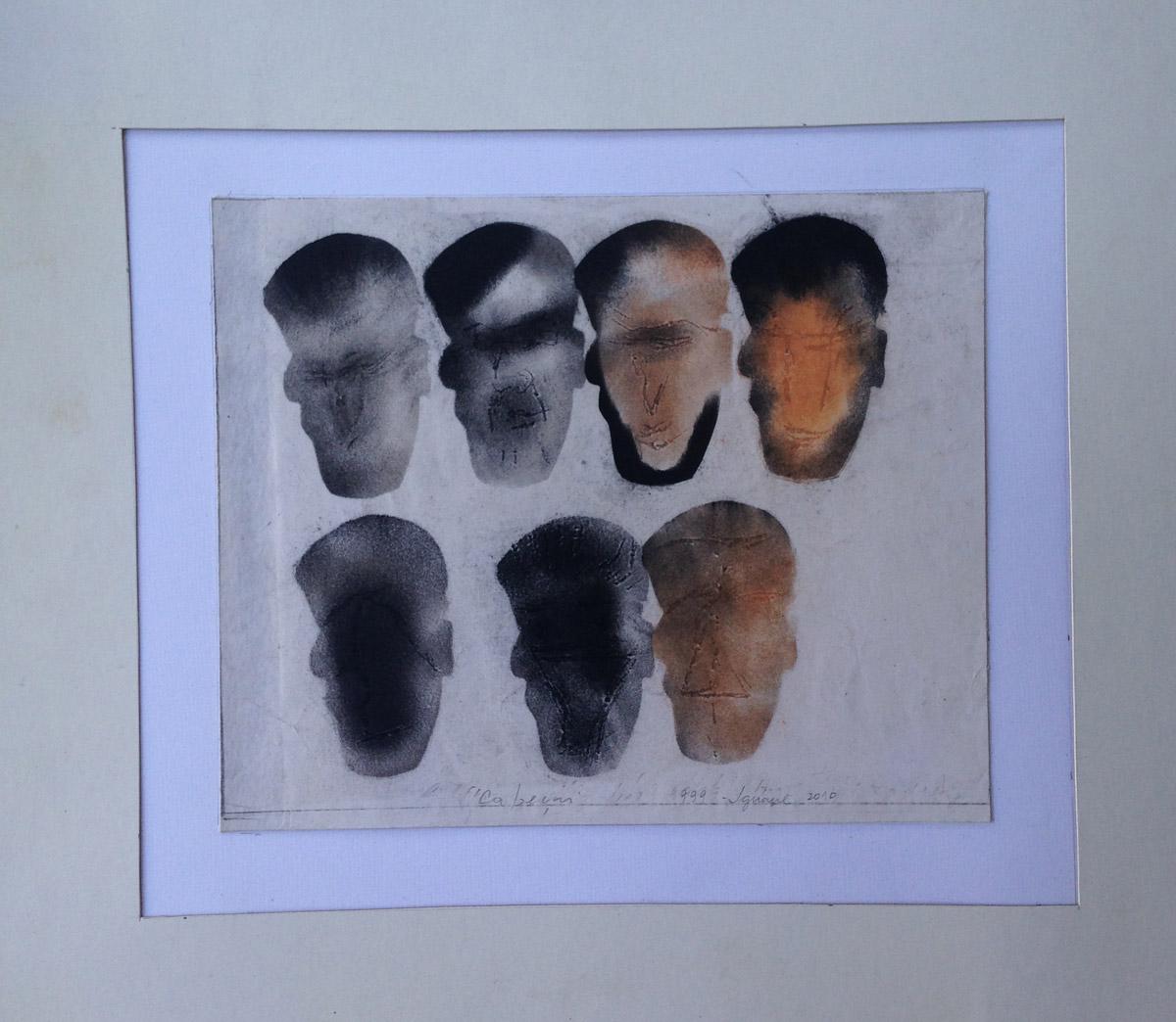 """s/ título""  Mista s/ papel (carvão e terra) - 1999-2010 16X19 cm"