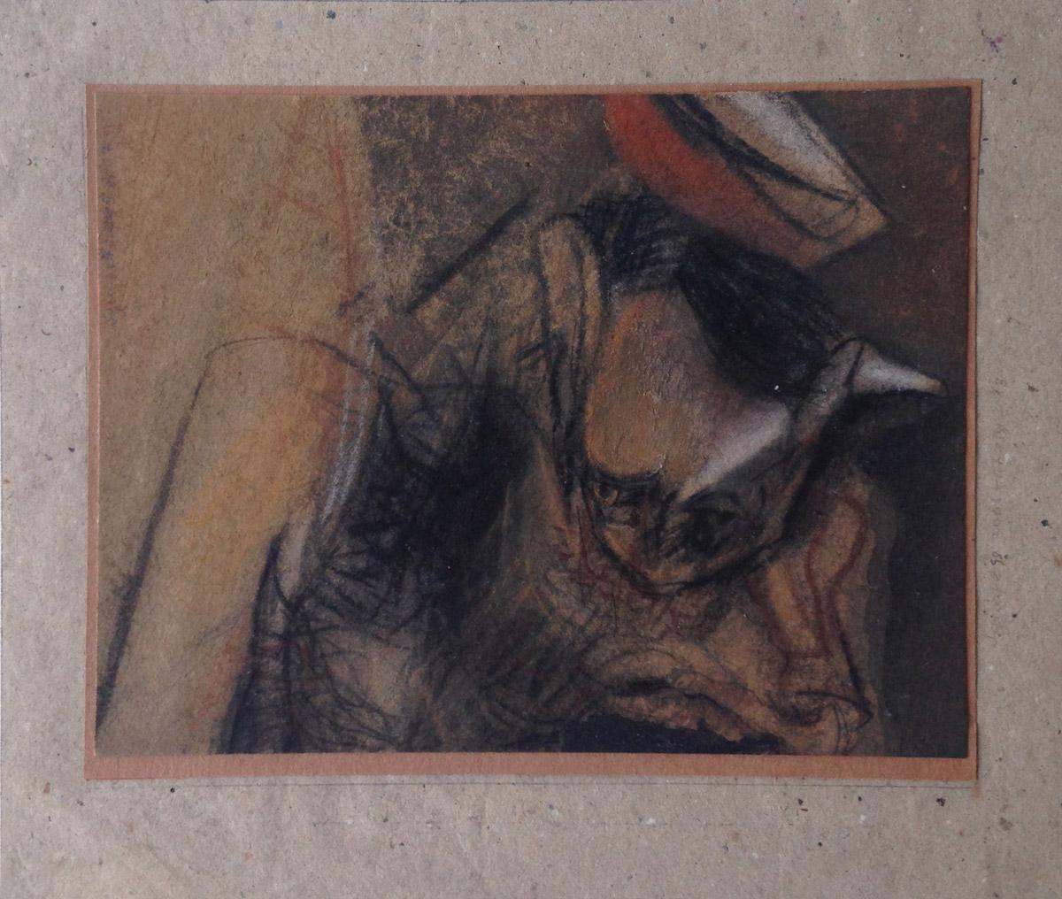 """s/ título"" Mista s/ papel (carvão e terra) - 1998-2006-2007-2013 14X18 cm"