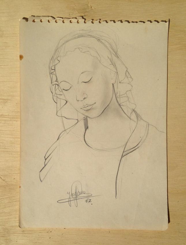"""Cópia""  Grafite s/papel - 1967 21,5X15,5 cm"
